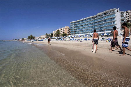 Allon Mediterrania 4 star Waters Edge Beach Hotel in Villajoyosa Spain.