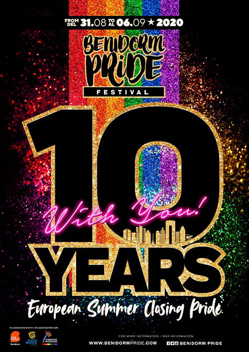Benidorm Pride Festival 2020 the 10th Annivesary