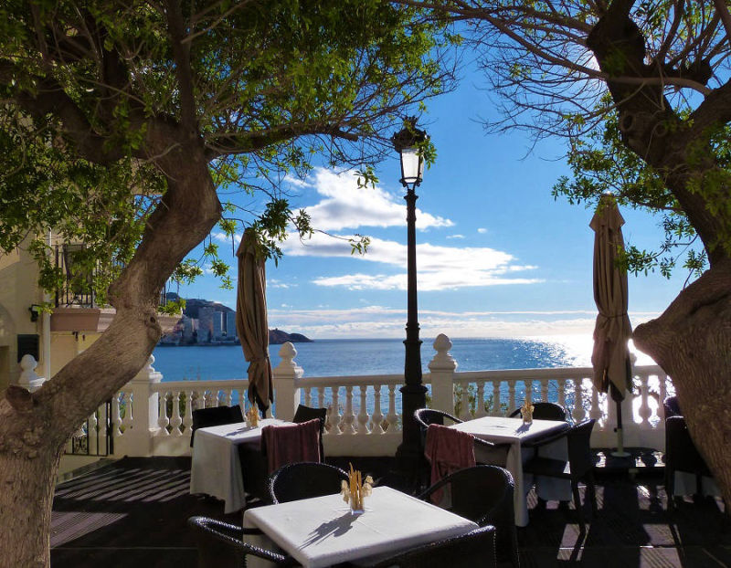 Lunch on the terrace, hotel Villa Venecia, Benidorm Old Town