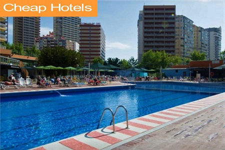Cheap 2 star Hotels and Holidays in Benidorm Spain.