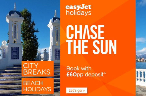 easyJet holidays for package holidays and city breaks with ATOL protection,