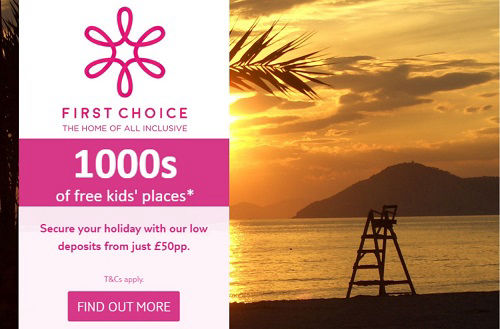 FIRST CHOICE  The home of all inclusive package holidays to the Costa Blanca, Benidorm, Spain and the islands.