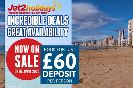 Jet2holidays Benidorm package holidays 100% ATOL protected. Choose from 75 hotels.
