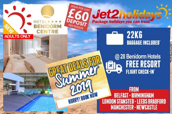 Jet2 Adult Only Holidays in Benidorm.