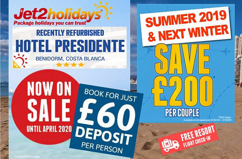 Benidorm Costa Blanca Spain Package Holidays from Jet2holidays 100% ATOL protected.