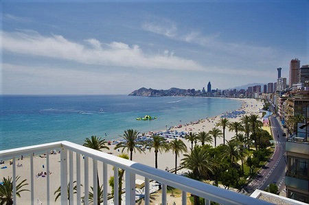 Mar Blau Cheap Beach Front Hotel in Benidorm Poniente