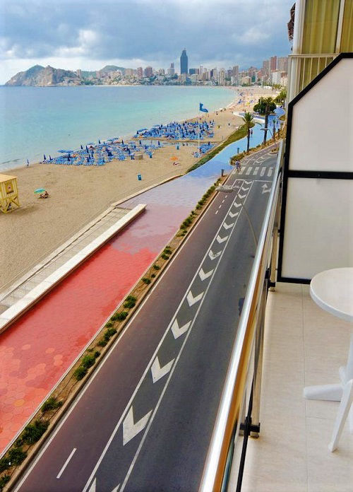 Hotel Marconi Benidorm a beachfront hotel on the Poniente Playa.