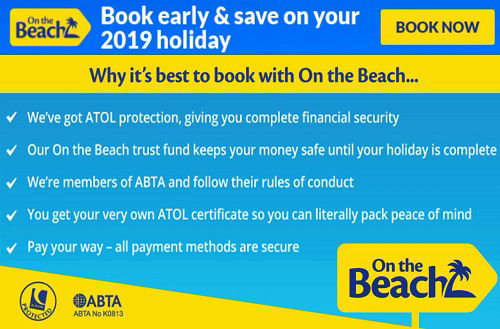 ontheBeach build your own Benidorm holidays with ATOL protection.
