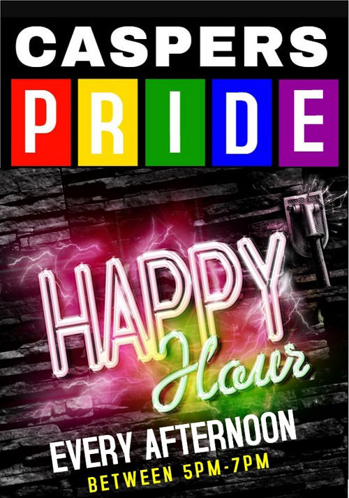 Benidorm Pride 2019 @ Caspers for ALL day food and every day HAPPY HOURS.