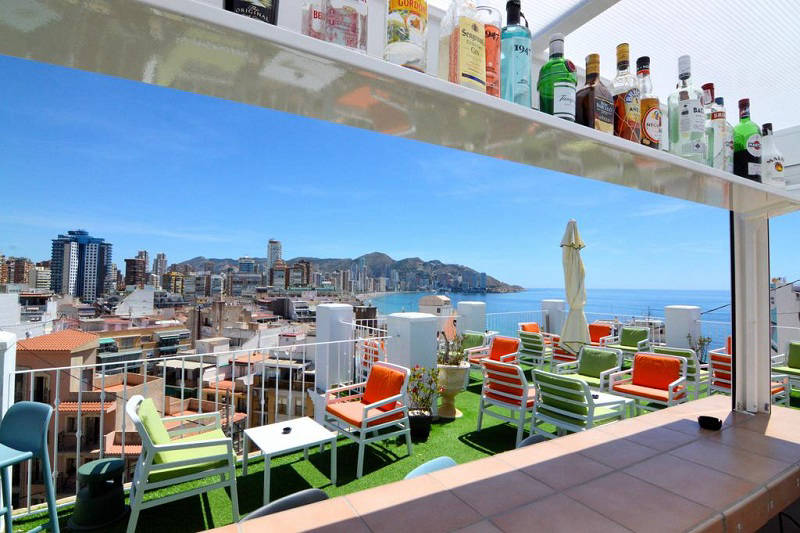 Queens Adult Only 2 Star B&B Hotel in Benidorm Spain.