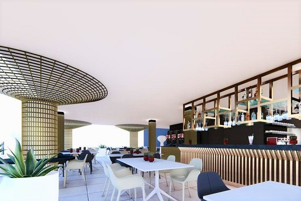 Benidorm Hotel Rosamar new café and bar (2020).