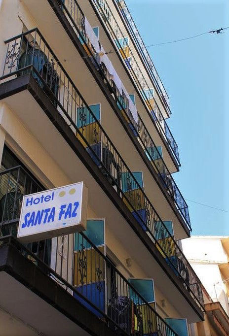 2 Star Hotel Santa Faz an adult only budget hotel in Benidorm old town.