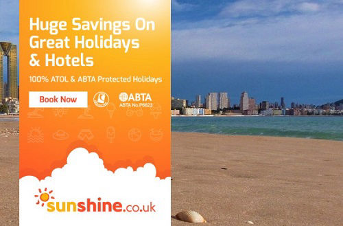sunshine.co.uk The online travel agent for Beniodorm Costa Blanca package holidays with ATOL protection.
