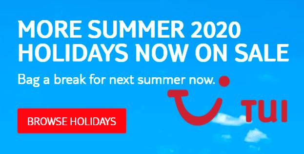 Tui holidays 2020