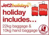 Jet2 Benidorm Package Holidays with 22kg luggage and 10kg hand luggage ATOL protected from �169