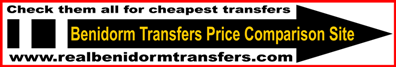 Compare Benidorm Transfers - Find the cheapest Alicante airport transfer to Benidorm Cala Finestrat