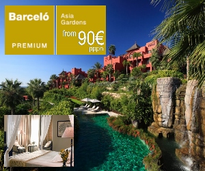Asia Gardens 5 Star deluxe hotel in Benidorm from 90� (�79) per person per night low season.