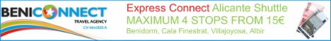 Express Alicante airport transfers to Benidorm. Maximum 4 stops