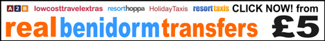 Benidorm Transfers and Costa Blanca Alicante Airport Holiday Transfers