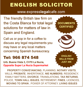 For fast legal advice from English Solicitors in Spain