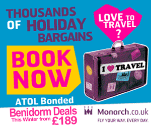 Monarch holidays to Spain, Benidorm from �189 low season.