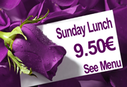 Sunday Lunch at Paneils only 9.50� for 4 courses plus a choice of 4 roasts or fish.