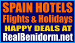 Benidorm Costa Blanca holidays. Hotels Alicante Flights Apartments Holidays  Travel Information Spain.